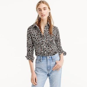 J. Crew The Perfect Shirt in Leopard Print